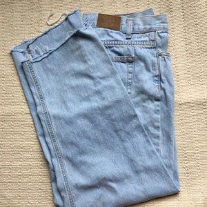 Vintage Distressed Hem Mom Jeans